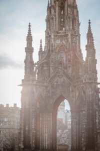 A church tower in Edinburgh, Scotland
