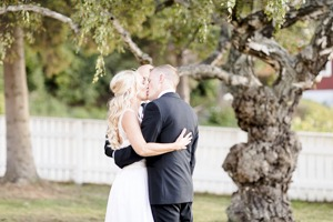 The kiss under a tree is another stunning photo