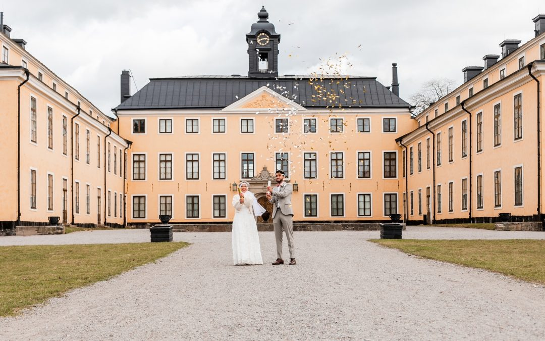 a stunning urban Elopement in Stockholm in early spring!