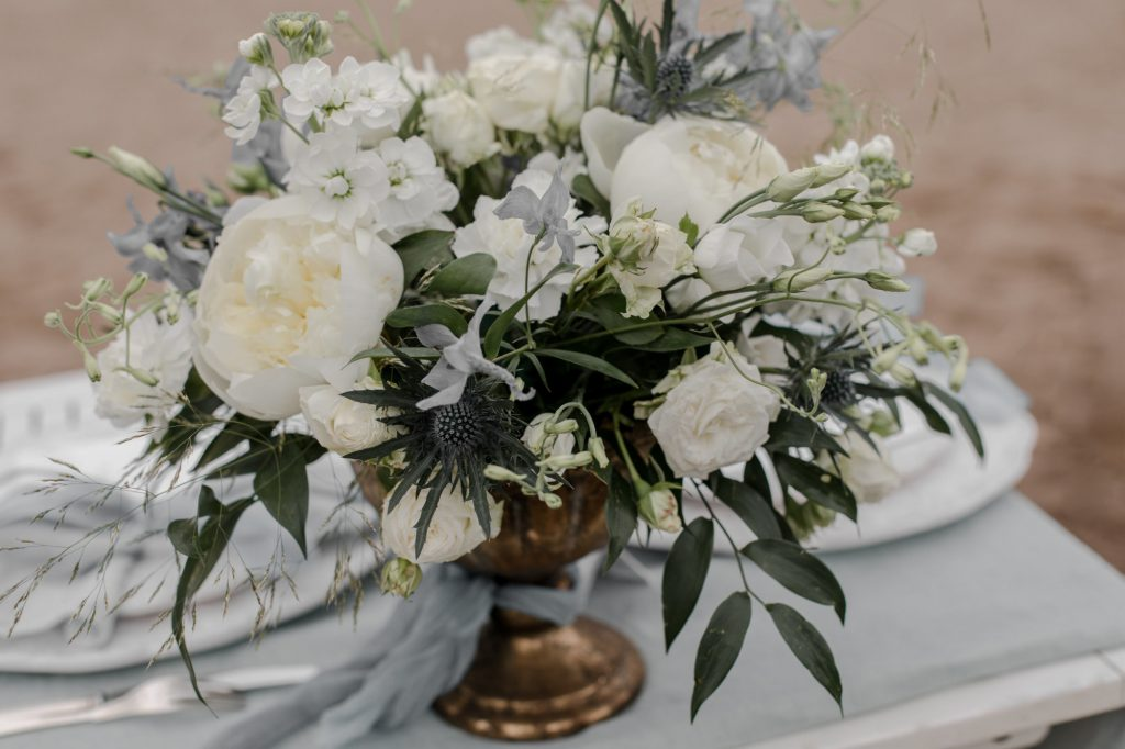 a  centerpiece bouquet is common in weddings but the questions remains regarding elopements