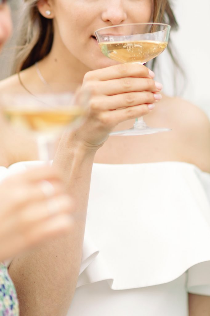 Things to ask the photographer and drinking champagne