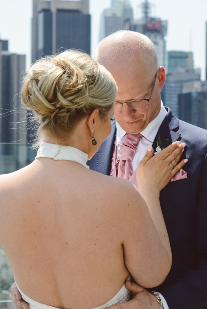 bridal hairdo's on top of a rooftop in NYC