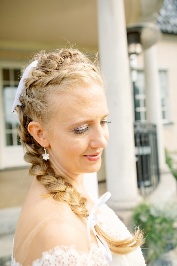 bridal updo's and a bride during the portrait session