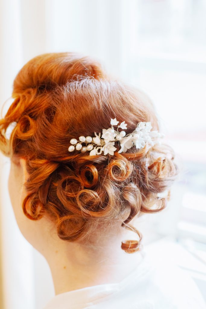 bridal hairdo's and a brides hair just as it's done