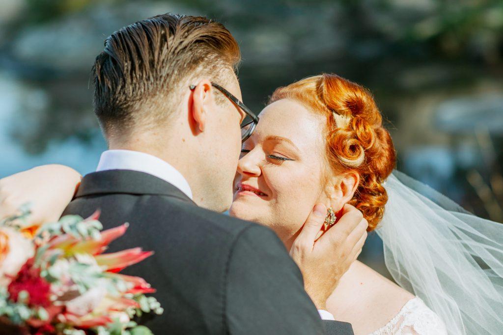 bridal hairdo's about to kiss
