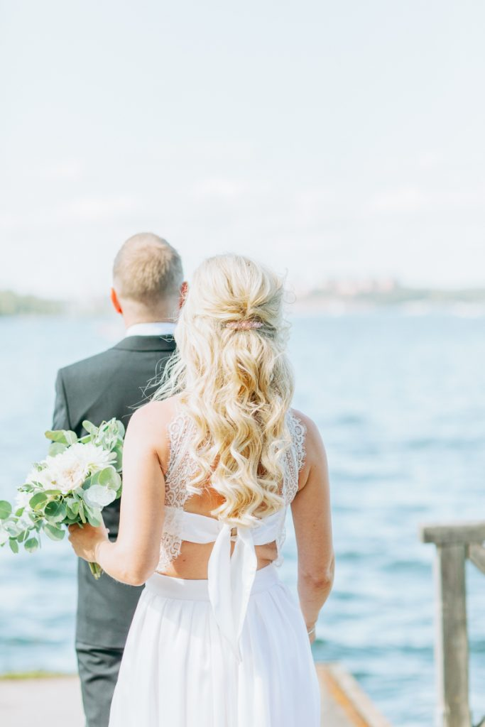 bridal hairdo's with a nautical feel and a first look