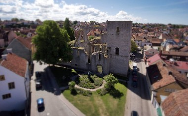 inspirational timelines and Drotten ruin in Visby gotland