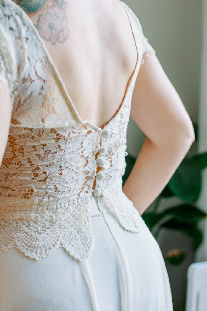 adventure elopement elopement dress buttons details from zetterberg couture