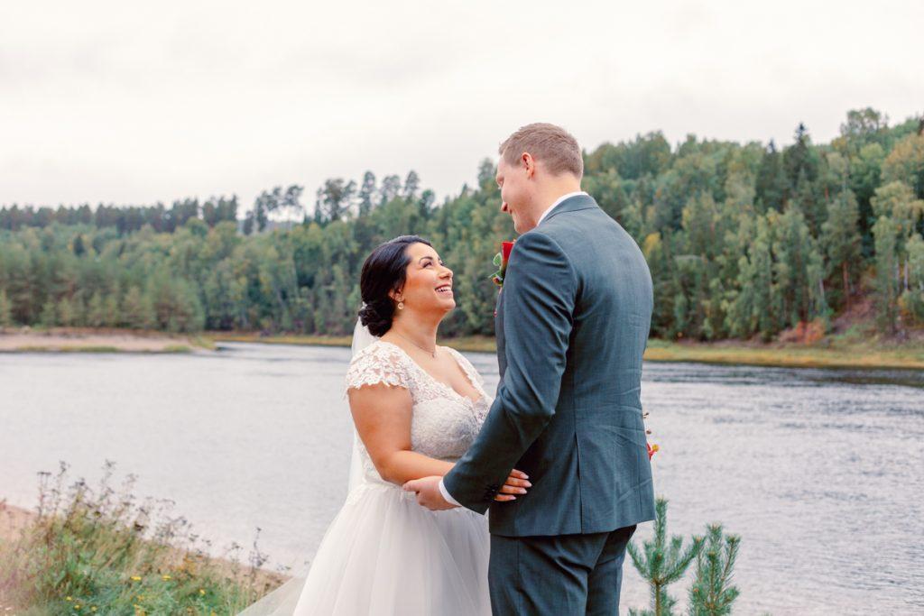 elopement wedding first look