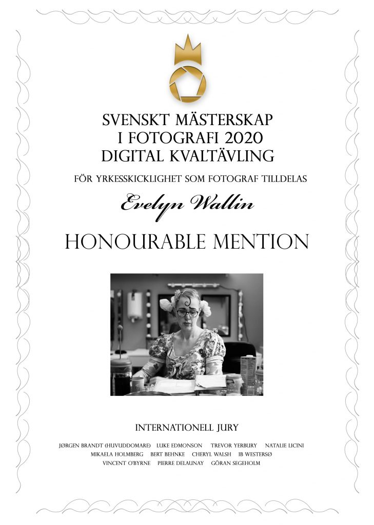 finals, honoeable mention in swedish championship of photography