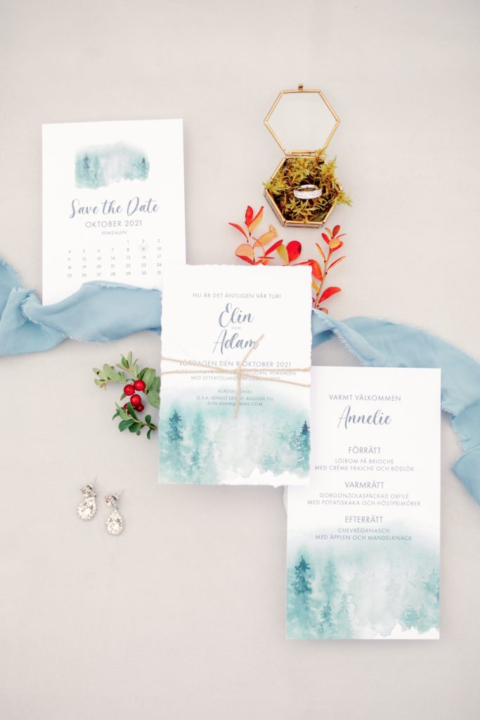 mountain waterfall elopement stationary from above